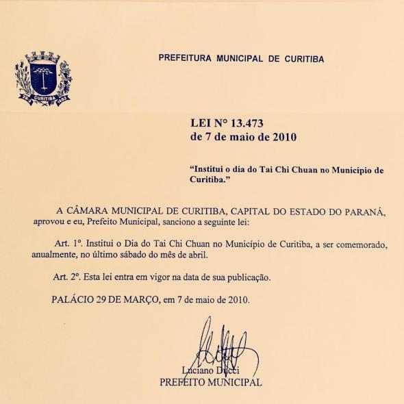 Dia do tai chi oficial em Curitiba